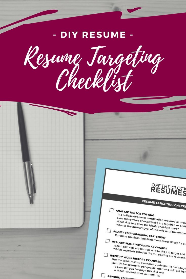 Skill Set Resume Resume Targeting Checklist  Professional Resume Writers Resume .