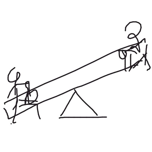 Seesaw - some days we're up, and some days we're down.