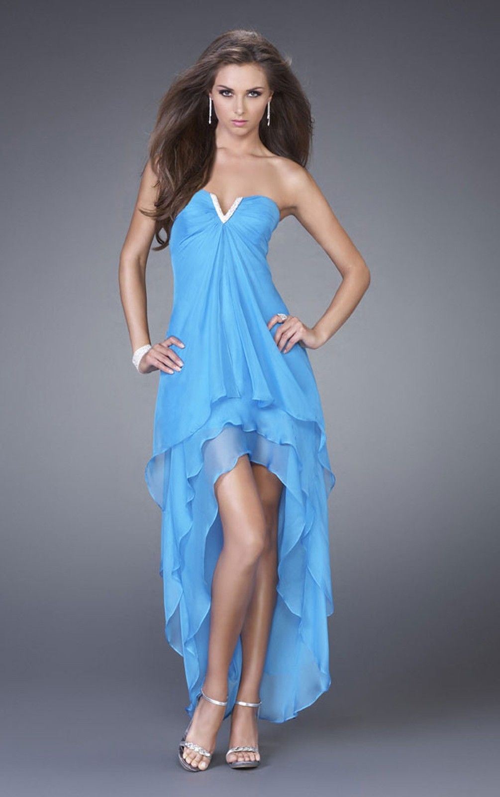 Reasonable A-line Chiffon Sleeveless Strapless Ankle-length Party ...
