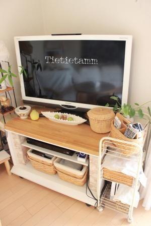 Tietietamm リメイク家具 テレビボード Tvボード 家具 テレビボード テレビ台 Diy