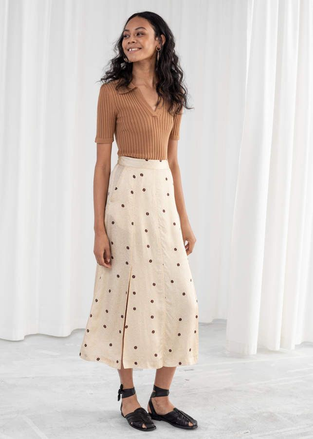 9fb387539 And other stories Satin Coffee Bean Midi Skirt in 2019 | Products ...