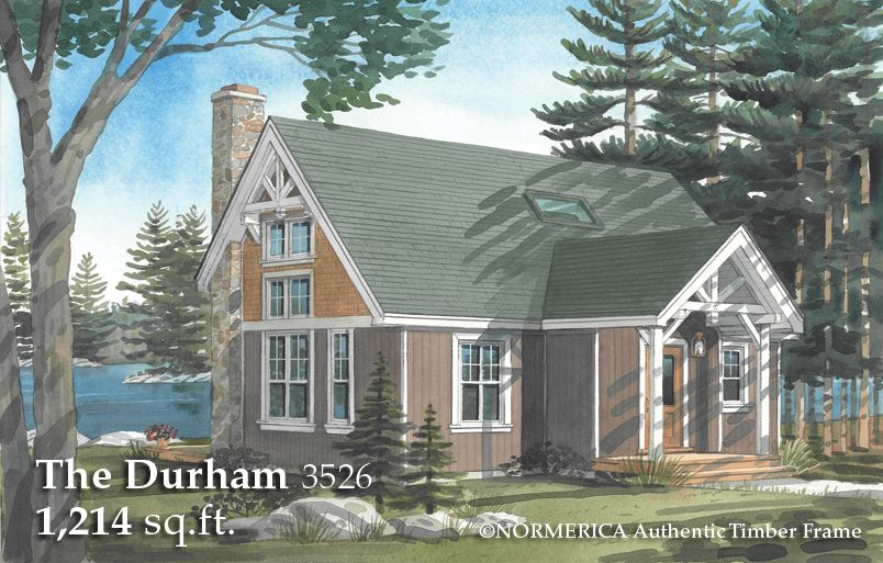 The Durham A Small Timber Frame Saltbox Cathedrals
