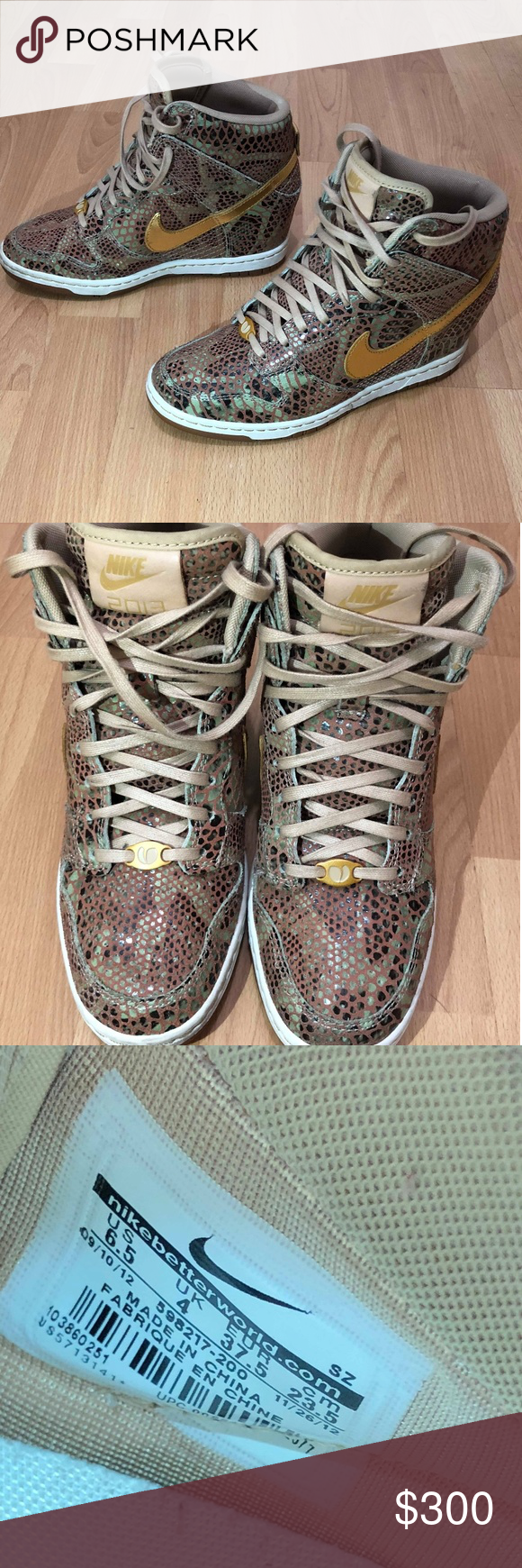 innovative design c8a7c d7dd9 Nike Dunk Sky Hi Wedge Year of the Snake QS Women Nike Dunk Sky Hi Wedge  Year of the Snake QS Women size 6.5 shoes 598217-200 ITEM FEATURES!