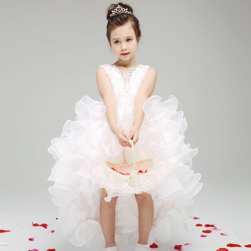 dd778d884 Aliexpress.com   Buy White Baby Girl Wedding Dress Princess Flower ...