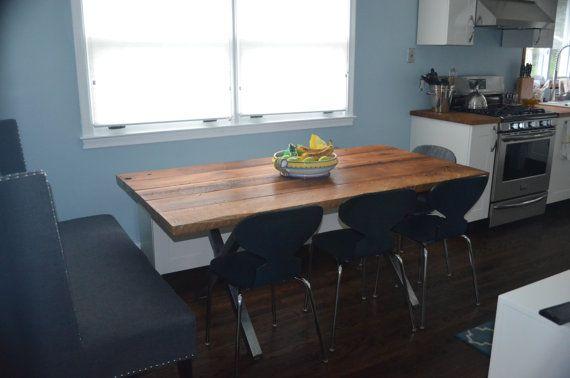 Moderne et rustique table à manger bois récupéré par OwenandAbbey ...