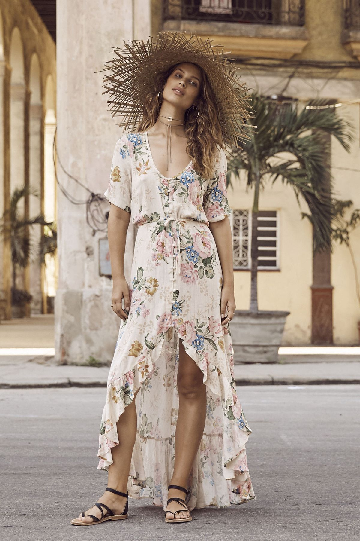 Delilah frill maxi dress by auguste the label products pinterest