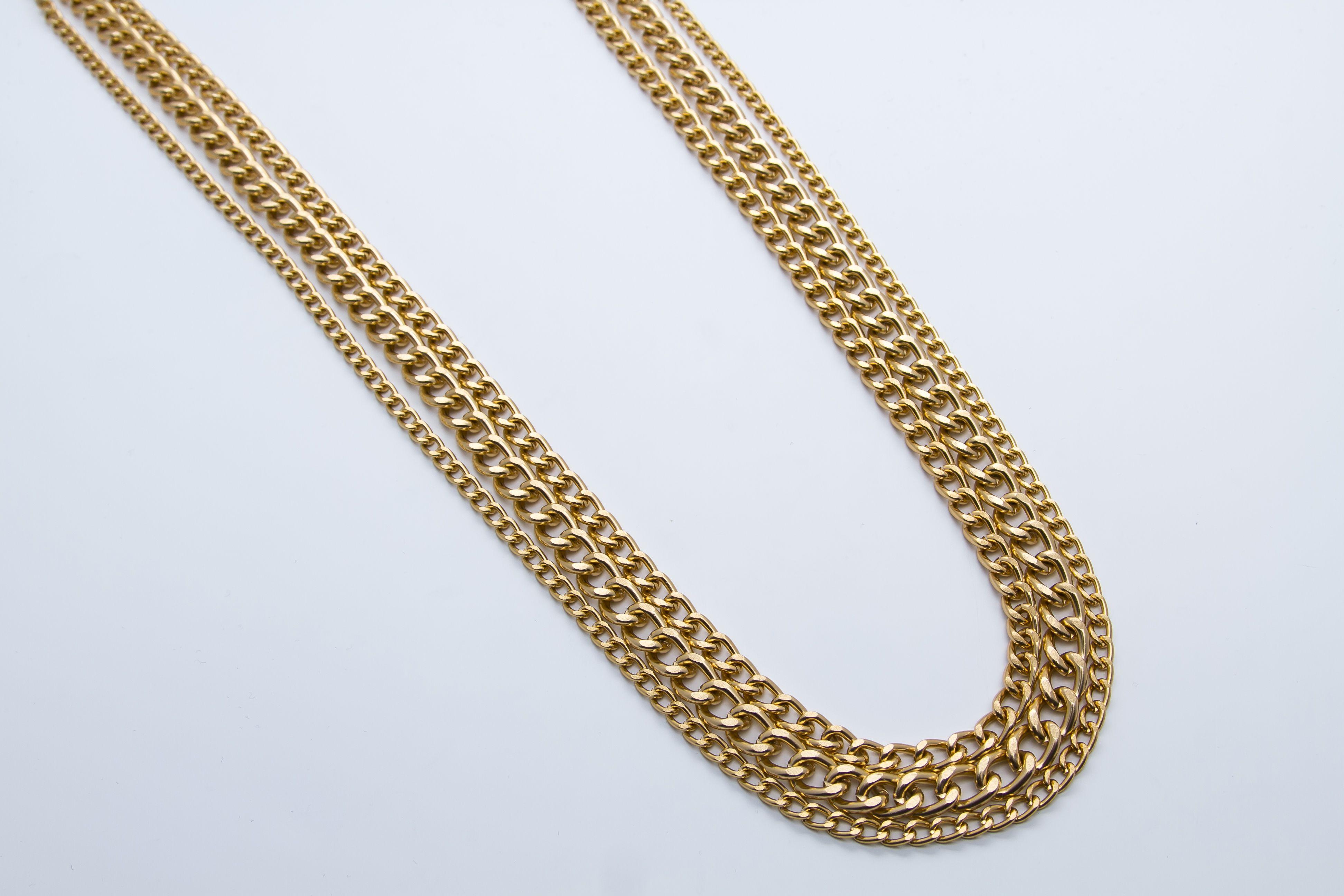 Alexandra jewellery gold curb necklace u riley lawson designs