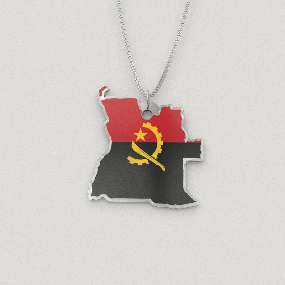 Custom Engraving Angola Necklace Angolan Flag Angola Map Etsy In 2020 Big Sister Presents Silver Chain Style Bridesmaids Gifts