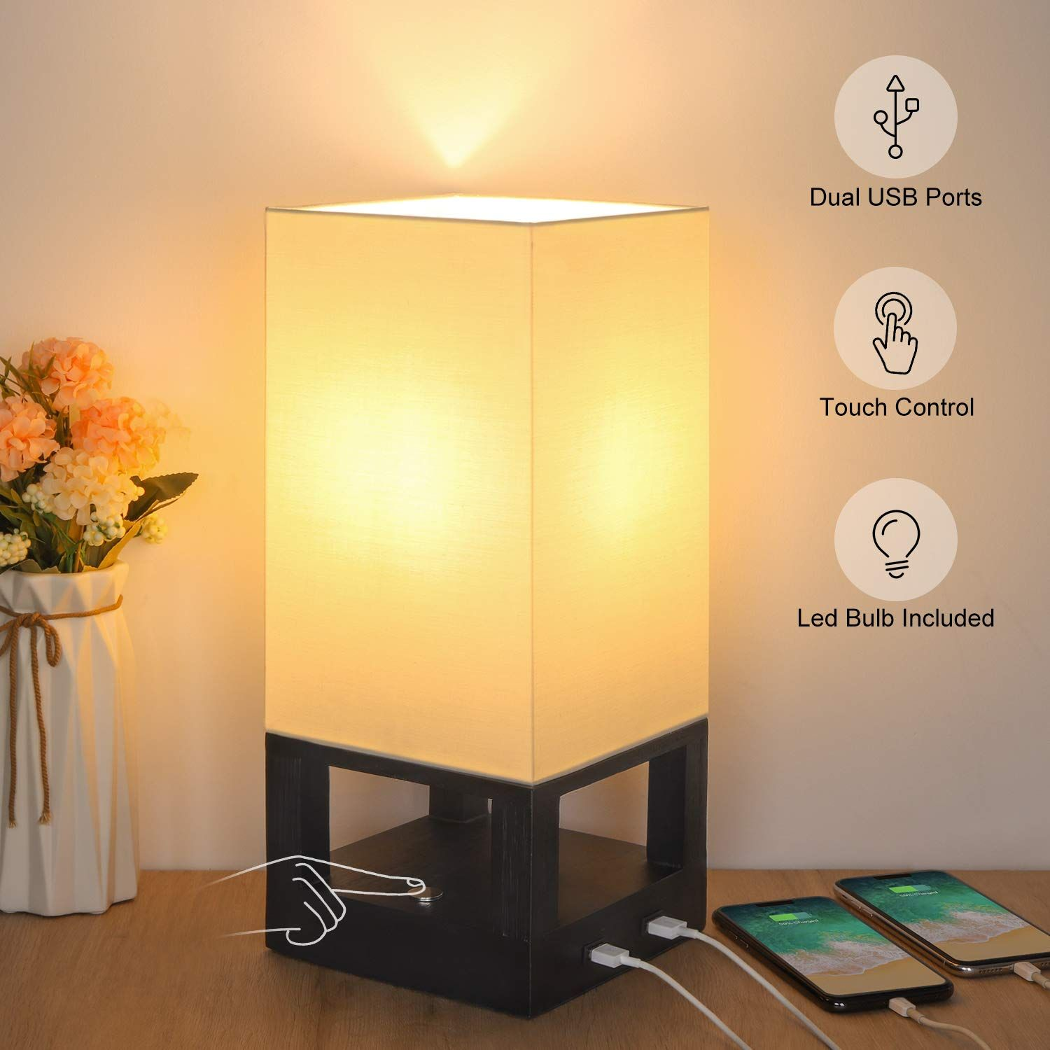 Table Lamp In 2020 Table Lamps For Bedroom Side Table Lamps Touch Lamp