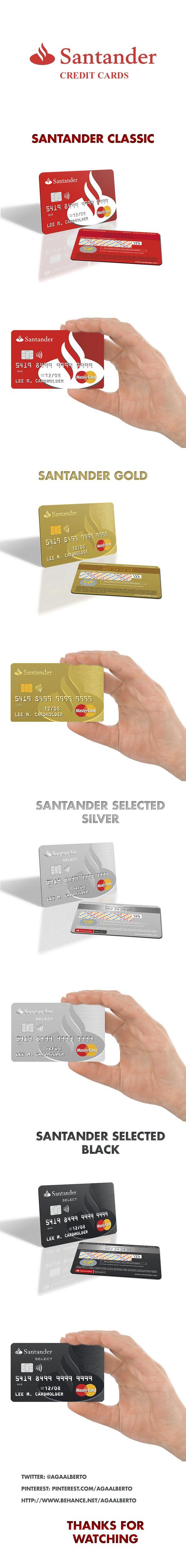 Santander Credits Cards Cards Credit Card Graphic Design