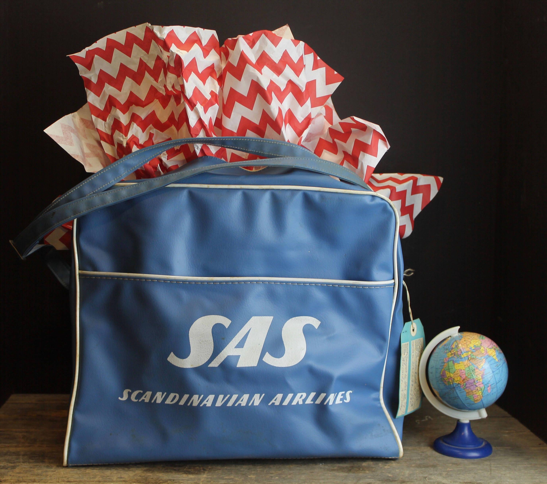 Vintage Sas Scandinavian Airlines Flight Bag Mid Century Etsy Scandinavian Airline Flights Airlines