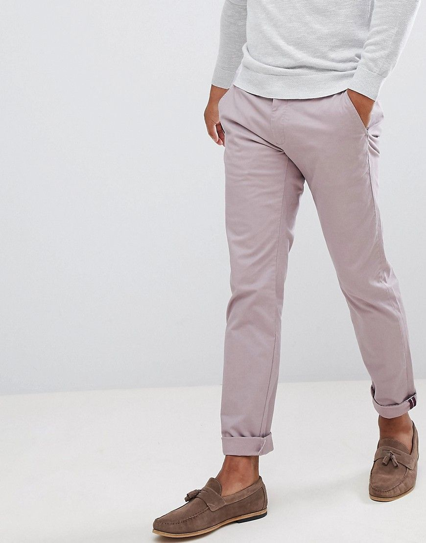 c2fe93a7bec6 TED BAKER SMART SLIM CHINOS IN PEACHED COTTON - PINK.  tedbaker ...