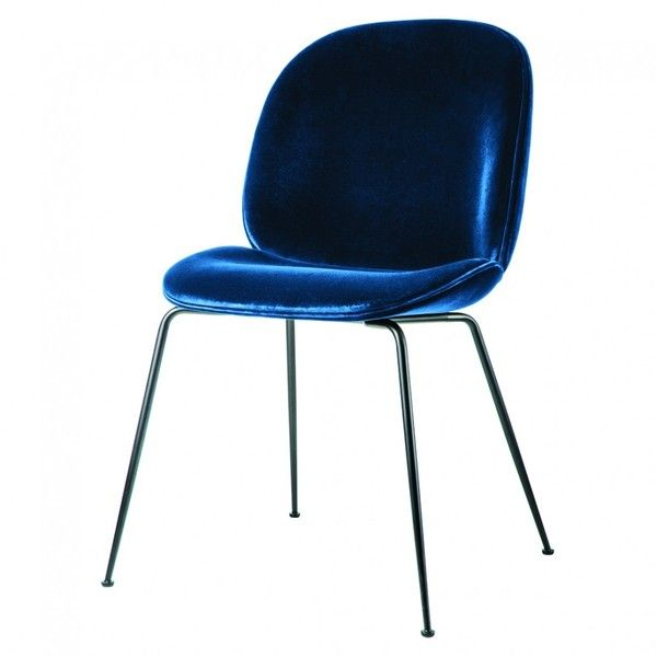Beetle Dining Chair Navy Velvet W Blau Azul Blue Royalblue