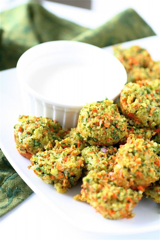 Cheese and Vegetable Quinoa Bites: A genius appetizer for the health-conscious.If you've got a box or bag of quinoa on hand, some leftover veggies to get rid of, and maybe a little bit of cheese on hand, then you've got an easy, savory, and bite-sized appetizer ready in less than 20 minutes.