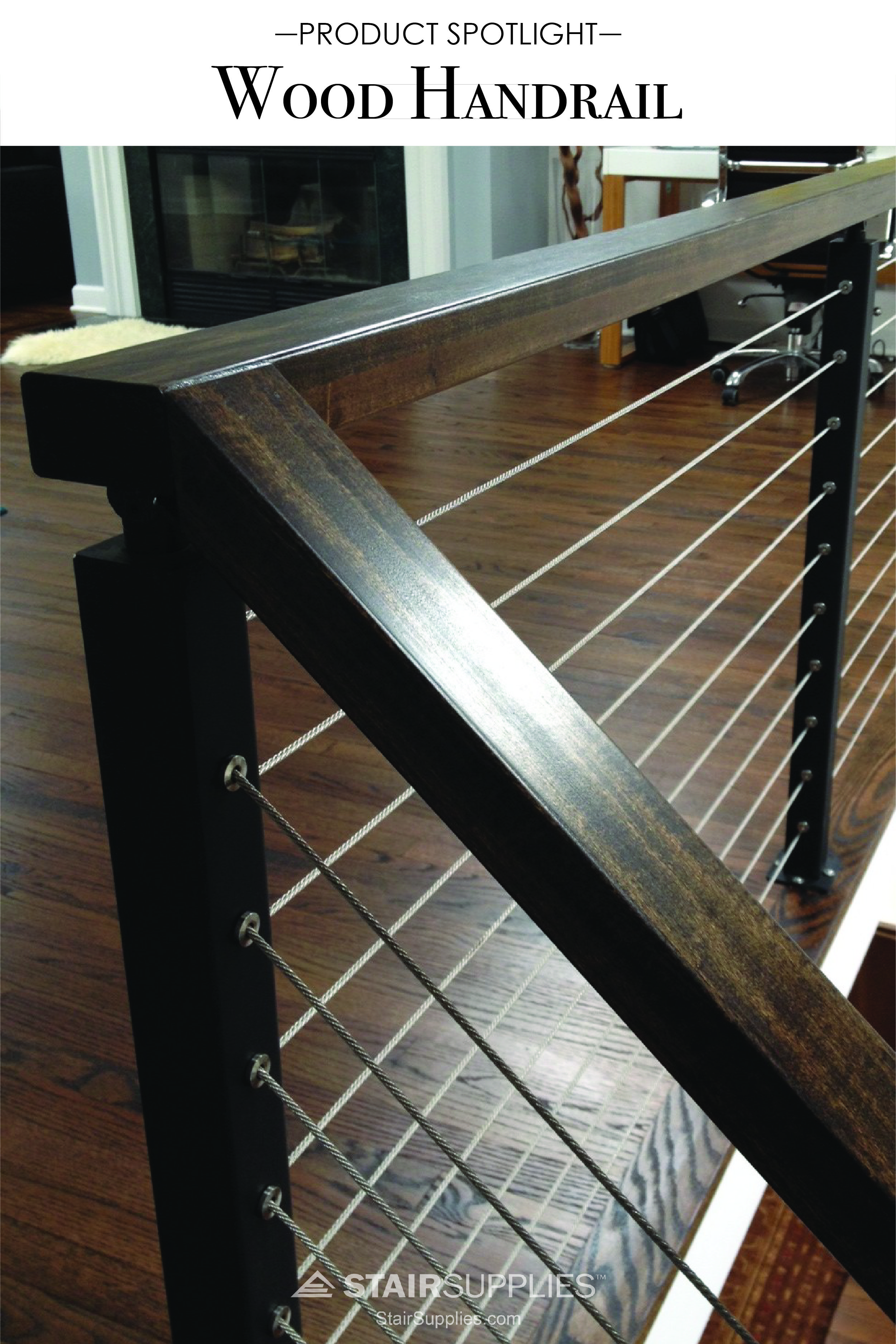 Best Our Signature Real Wood Handrail The Perfect Complement 400 x 300