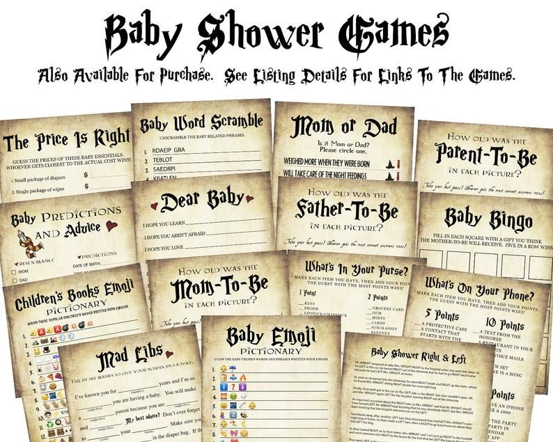 INSTANT DOWNLOAD sprinkle party printable digital wizard Baby Shower Game Pack