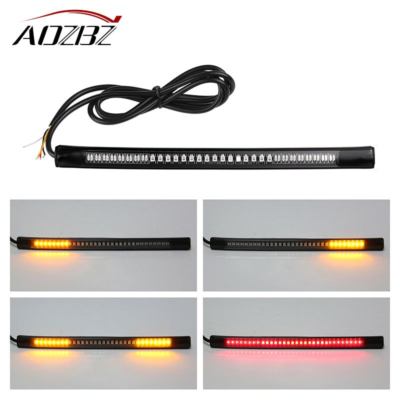 Aozbz motorcycle light bar strip tail brake stop turn signal license aozbz motorcycle light bar strip tail brake stop turn signal license plate light integrated 3528 smd mozeypictures Gallery
