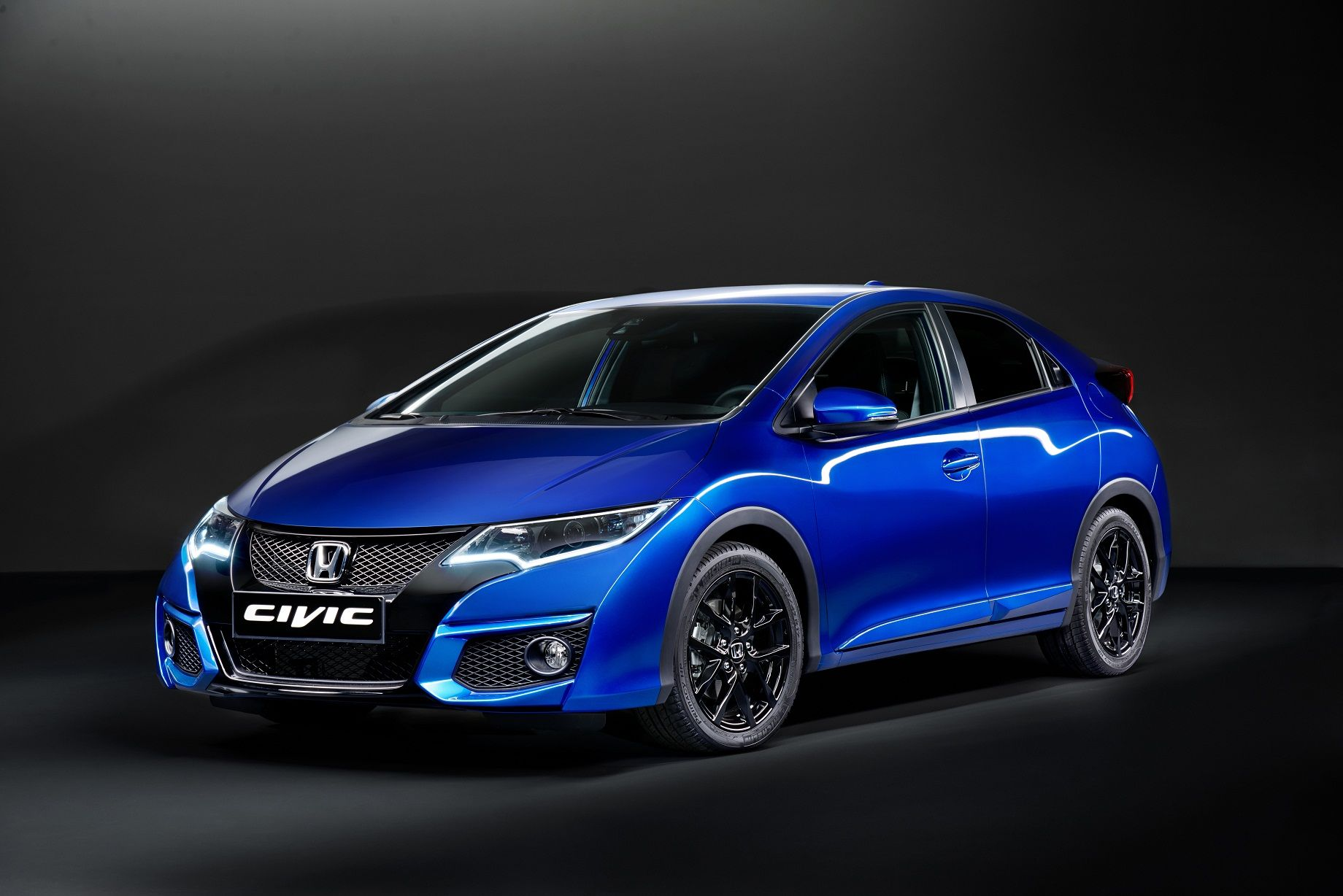 Honda Civic in Brilliant Sporty Blue Honda civic