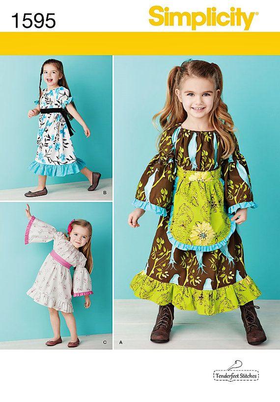 Little Girls Dress Pattern, Girls Easy Dress Pattern, Simplicity ...