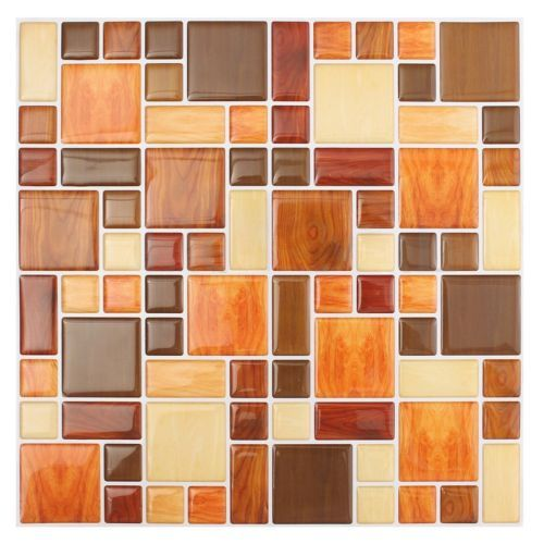 Details About 3D Tile Mosaic Pattern Wall Background Living Room