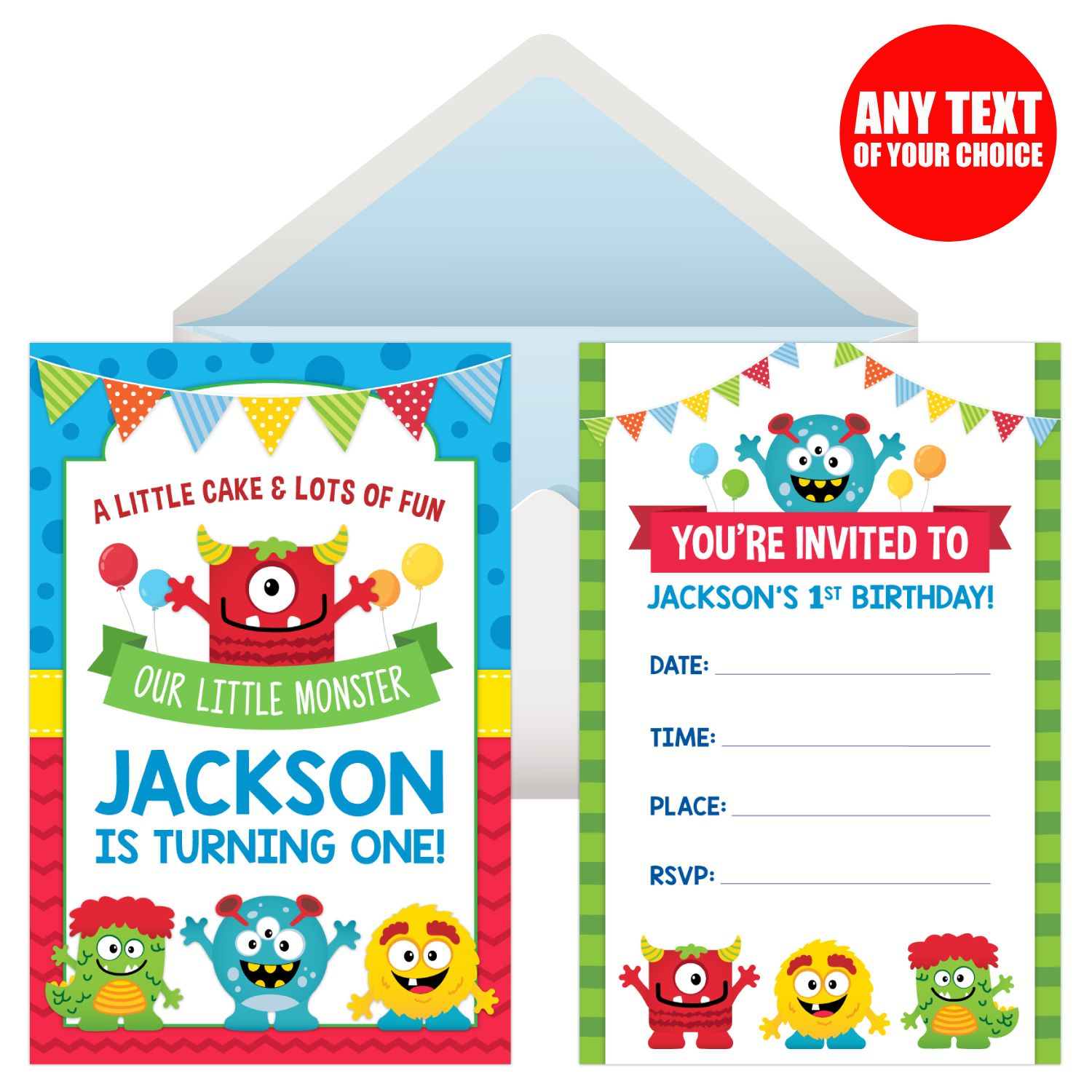 Mini Monster PERSONALIZED Invitations - 8 Pk Party Supplies Canada ...