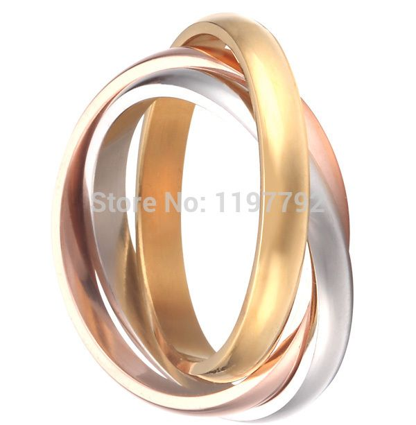 High Quality Fine Jewelry Pure Titanium Steel Womens Wedding Band Promise Ring Puzzle Rings Eternity