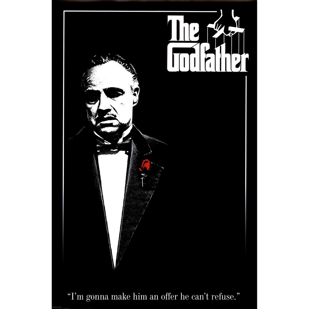 Art.com - The Godfather Poster, White Black