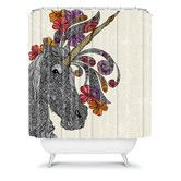 Found it at Wayfair - DENY Designs Valentina Ramos Polyester Unicornucopia Shower Curtain