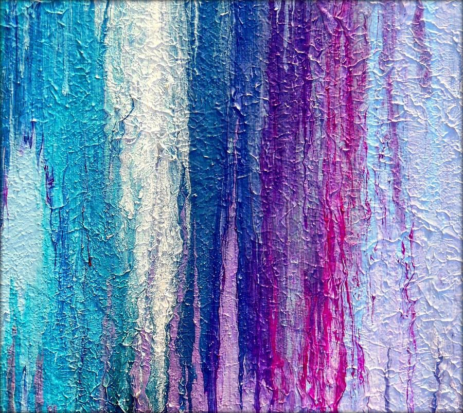 Textured Fluid Acrylic Abstracts Of 2013 Painting  - Textured Fluid Acrylic Abstracts Of 2013 Fine Art Print Holly Anderson Fine Art