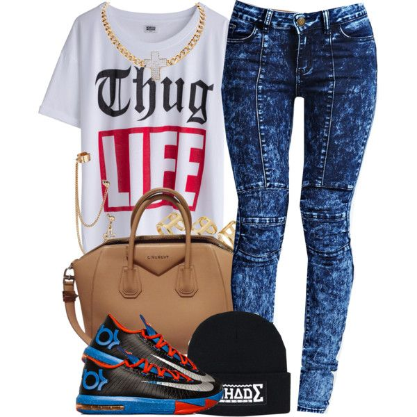 Thug Life, created by oh-aurora on Polyvore