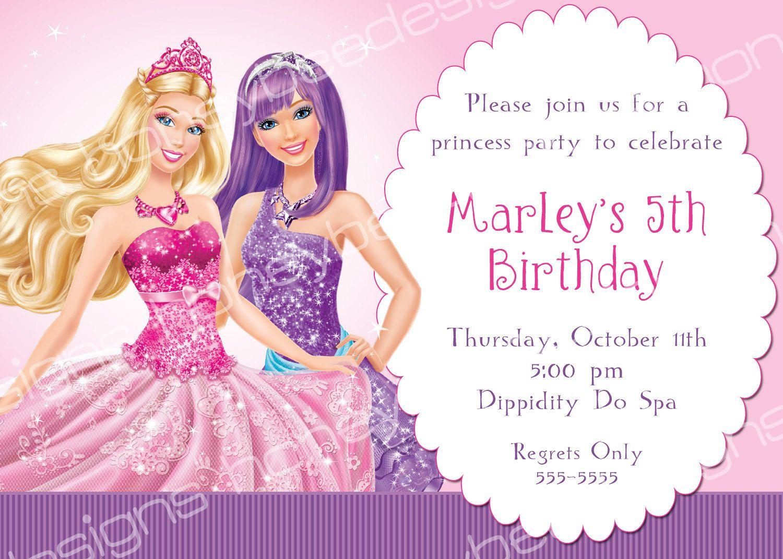 Best 25  Barbie invitations ideas on Pinterest | Barbie birthday ...
