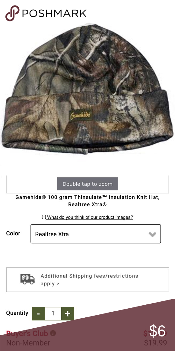 Gamehide Insulated Knit Camouflage Beanie Hat Gently used. Best fit big kid  - tween. 36ece19029a