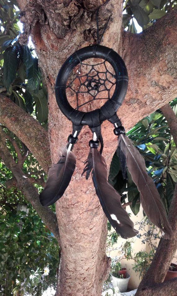 Attrape-rêves noir bois perles de verre et par IndianHeritageArts