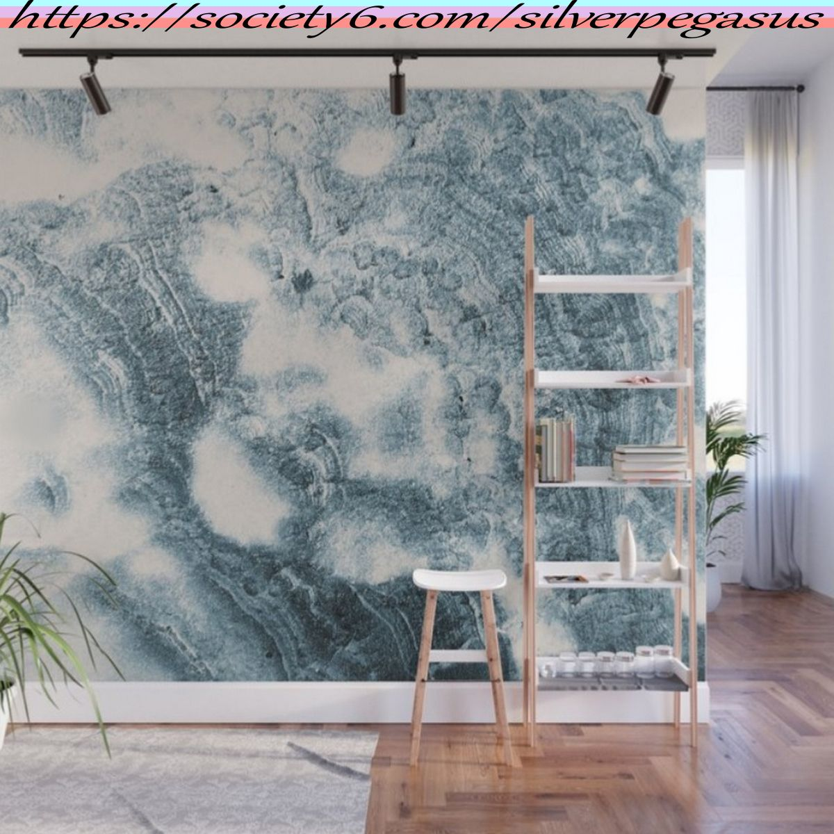 Society6 Com Silverpegasus Marble Flow Moody Blue Wall Mural By Silverpegasus In 2020 Marble Design Texture Wall Murals Large Scale Wall Art