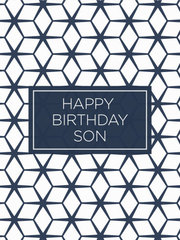 Geometric modern happy birthday card for son wish your son a geometric modern happy birthday card for son wish your son a happy birthday with this bookmarktalkfo Gallery