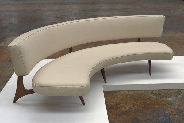 mid century curved couch | 75: VLADIMIR KAGAN b. 1927 ...