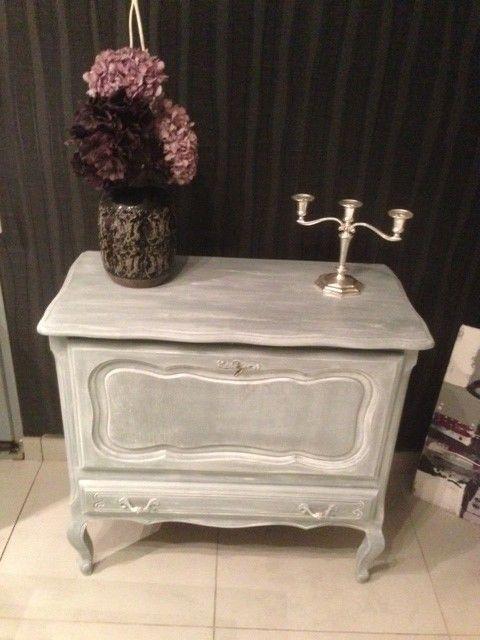meuble tv ou bar patin gris - Meuble Tv Blanc Patine