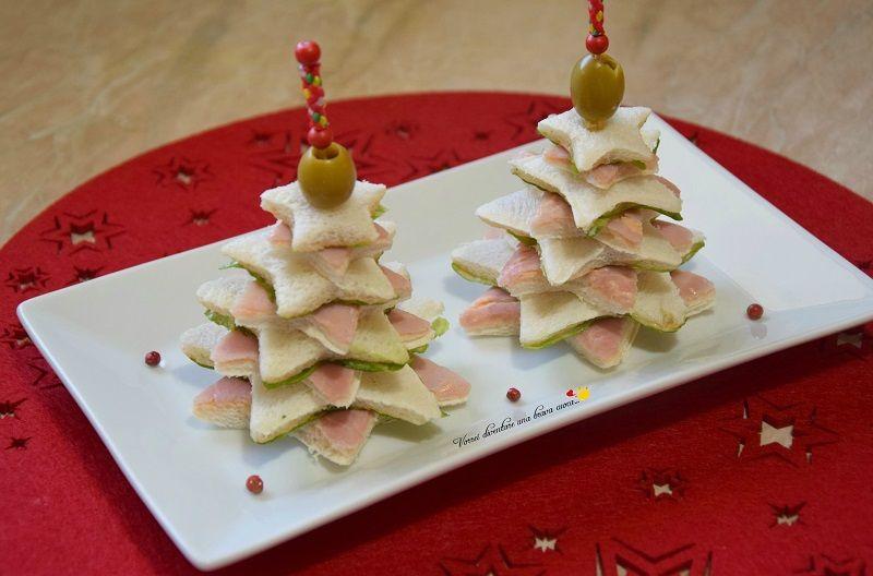 Antipasti Di Natale Gourmet.Alberelli Di Tramezzini Vorrei Diventare Una Brava Cuoca Ricetta Ricette Cibo Natalizio Antipasti Di Natale