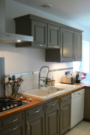 cuisine en chêne relookée restauration meubles Pinterest - Renovation Meuble En Chene