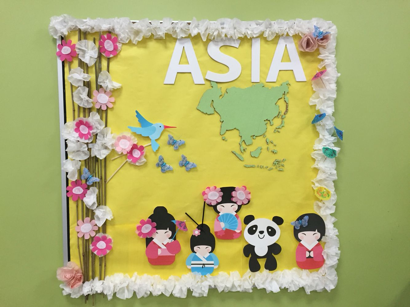Asia bulletin board | Japan crafts, Creative classroom ...