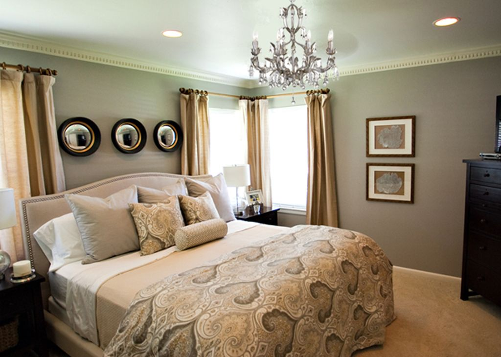 Small Cozy Master Bedroom ashes behr paint still warm but good grey color i love it maybe