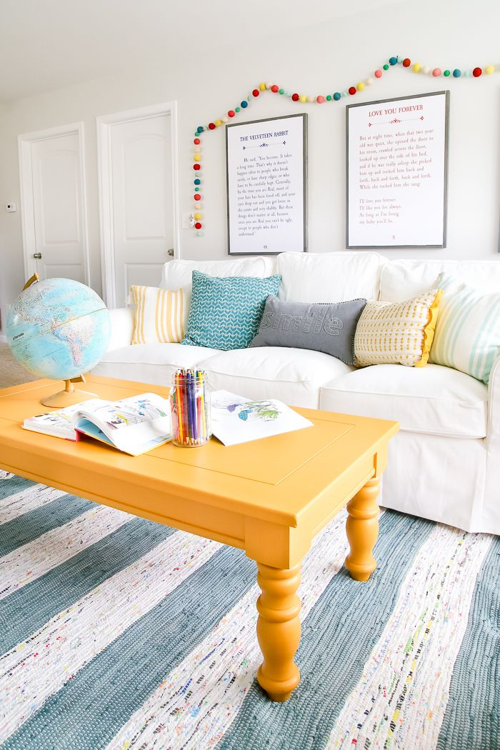 Super Mustard Playroom Coffee Table Makeover Home Style Decor Dailytribune Chair Design For Home Dailytribuneorg
