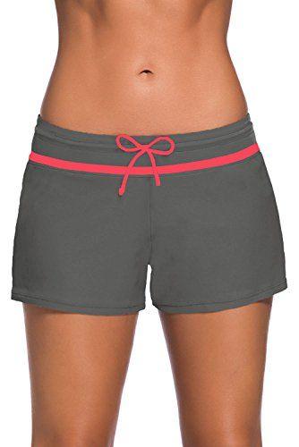 71882ee9731 ZKESS Womens Side Slit Tankini Swimsuit Shorts with Briefs Inner Lining  Plus Size S - XXXL