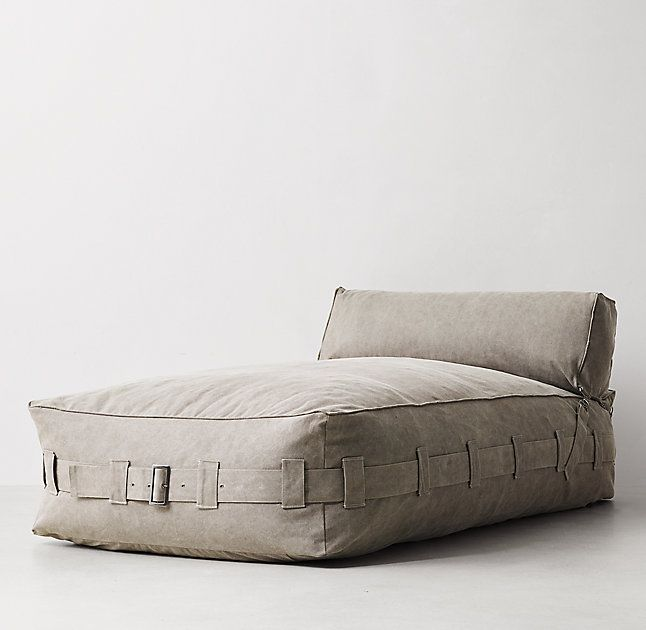 Cargo Lounge Armless Chaise Khaki Alex board