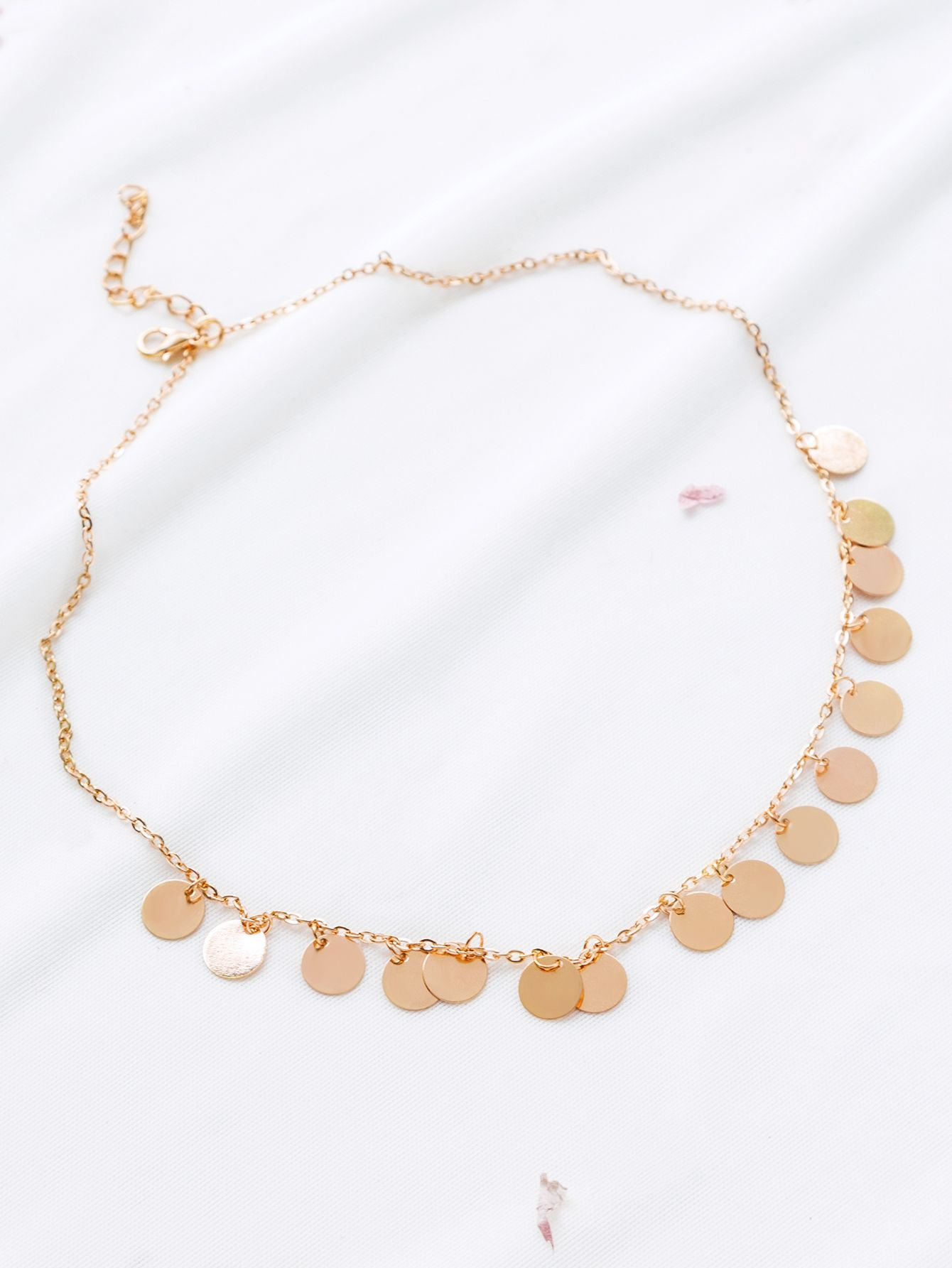 df0d440925 Shop Gold Coin Fringe Statement Necklace online. SheIn offers Gold Coin  Fringe Statement Necklace & more to fit your fashionable needs.
