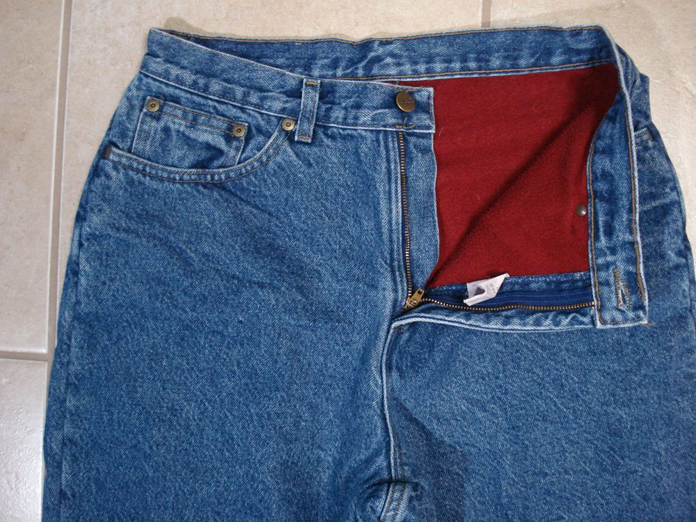 b422af3efad L.L. Bean Vintage Flannel Lined Blue Jeans Women s Size 12 High waist   LLBean  Relaxed