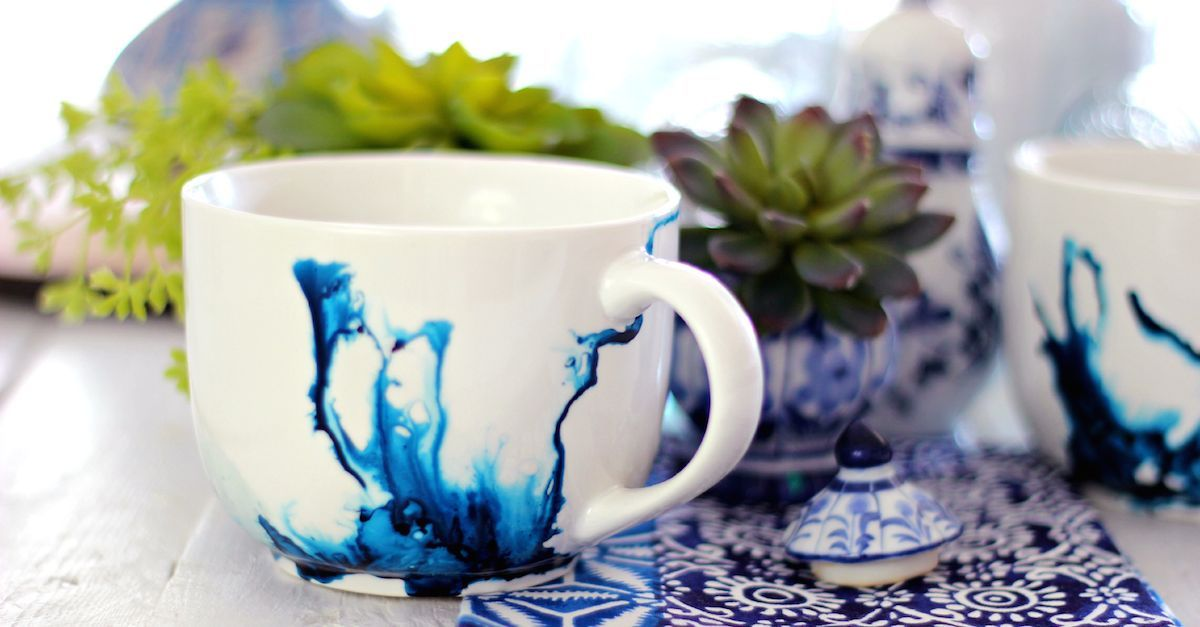 It S Amazingly Easy To Make One Of A Kind Watercolor Mugs And