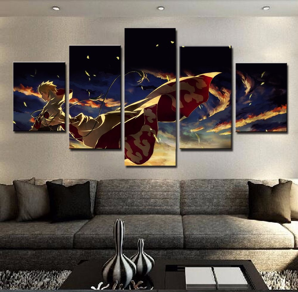 Panel Canvas Printed Naruto Painting For Living Room Picture Wall Art Hd Print Decor Modern Artworks Animation Poster