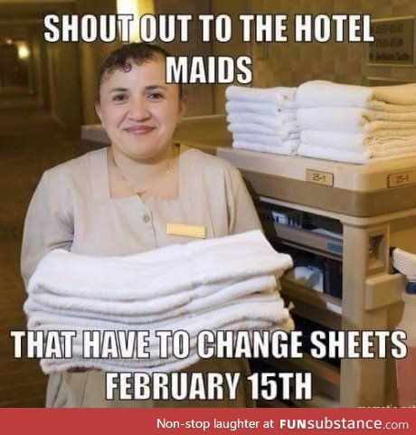 Changing Hotel Sheets Funsubstance Funny Pictures Valentines Day Memes Funny Pictures With Captions