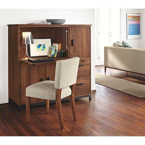 Linear Modern Office Armoires   Modern Office Storage   Modern Office  Furniture   Room U0026 Board